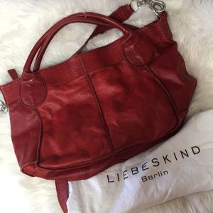 Liebeskind Berlin Free People Red Leather Purse